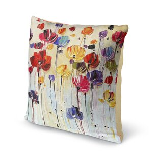 Isaiah Flowers Cotton Throw Pillow