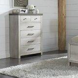 Pinar 6 Drawer Standard Dresser by Gracie Oaks