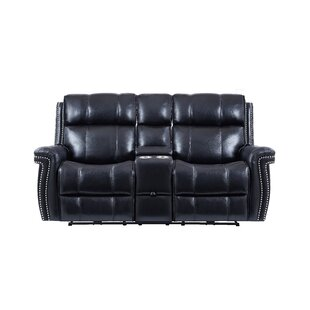 Darby Home Co Wilkerson Power Console Headrest Reclining Sofa