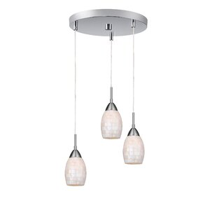Murphy Pearl 3-Light Cluster Pendant by Ebern Designs