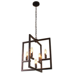 Dunnstown Farmhouse Ceiling 5-Light Geometric Chandelier