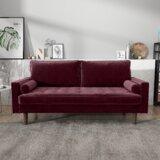 Chretien Velvet 70'' Square Arm Sofa by Mercer41