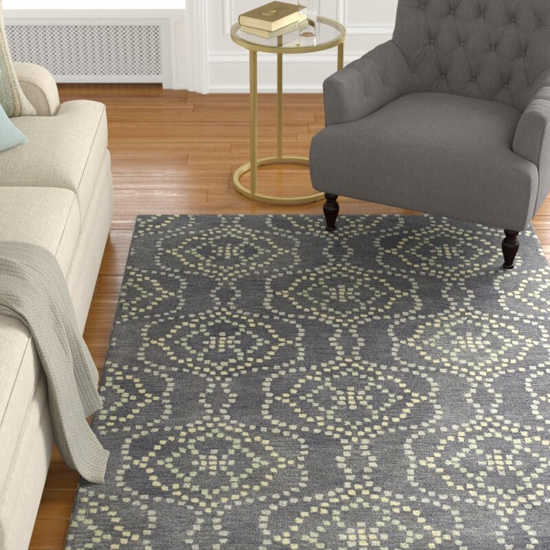 Alcott Hill Bergland Hand Tufted Gray/Beige Area Rug, Size: Rectangle 8 x 11