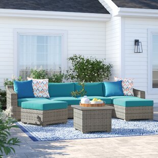 Falmouth 7 Piece Sectional Seating Group with Cushions