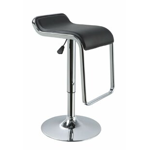 Clower Low Back Adjustable Height Upholstered Swivel Bar Stool