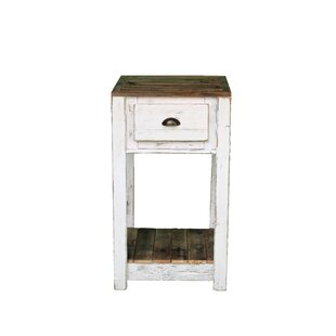 Caius White Combo Pub Storage Table