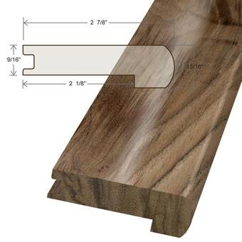 Artistic Finishes Walnut Wood 0 69 Thick 1 56 Wide 78 Length Threshold End Cap Wayfair