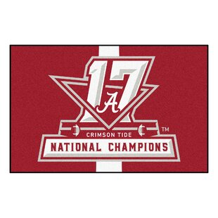 Affordable NCAA Red/White Area Rug By FANMATS