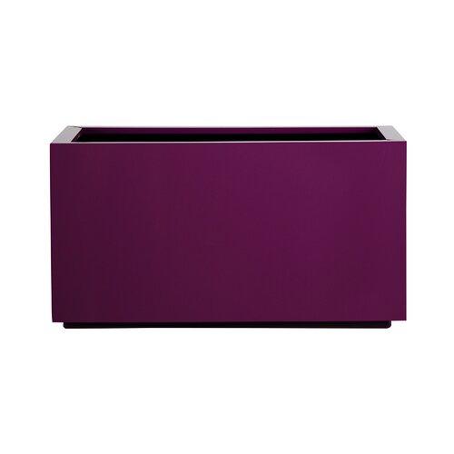 Metal Self-Watering Planter Box Symple Stuff Colour: Brown,