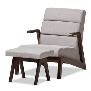 Lazzaro Mid-Century Modern Lounge Chair and ..