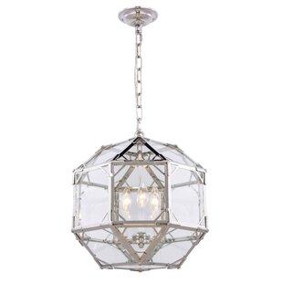 Puccio 3-Light Geometric Chandelier