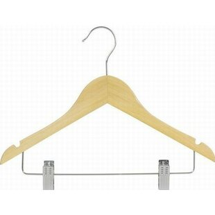 Comparison Flat Wooden Suit Hanger with Clip (Set of 25) By Only Hangers Inc.