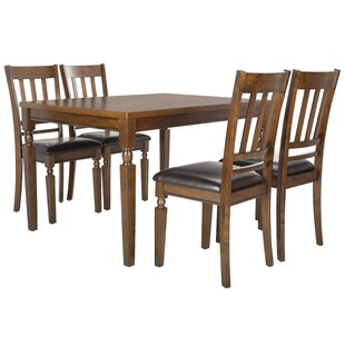 Parkin 5 Piece Dining Set by Loon Peak
