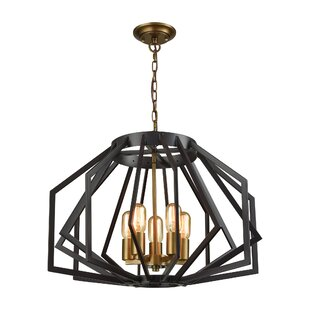 Mcnemar 5-Light Geometric Chandelier by Brayden Studio