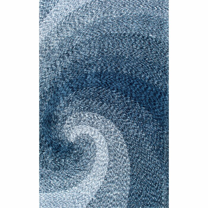 Salina Hand Tufted Blue Area Shag Rug