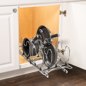 Lynk Professionalu00ae Roll Out Cookware Organizer u2013 Pull Out Under Cabinet Sliding Rack