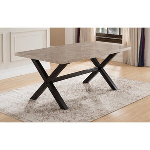 Coastview Solid Marble Dining Table by Red Barrel Studio