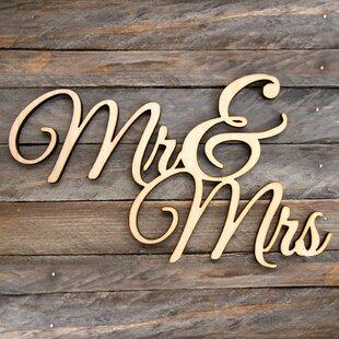 mr mrs wall sign wayfair
