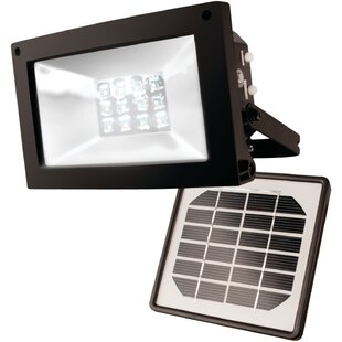 Symple Stuff LED Solar Powered Outdoor Security Flood Light