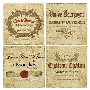 Wine Label Coasters Wayfair