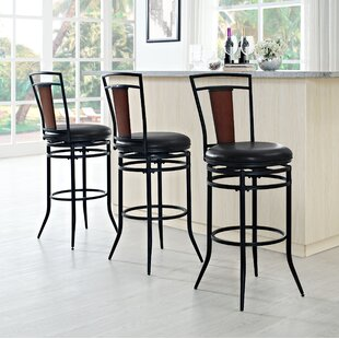 Belle Haven 44.25 Haven Swivel Bar Stool Red Barrel Studio
