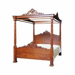 Wesleyan Canopy Bed By Astoria Grand