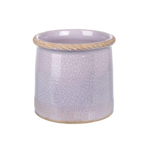 Priscila Ceramic Plant Pot August Grove Colour: Lavender