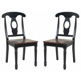 TTP Furnish Two Sturdy Solid Wood Dining Chair (Set of 2)