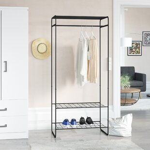 Wetherby 77cm Wide Metal Clothes Rack With 3 Shelves By Symple Stuff