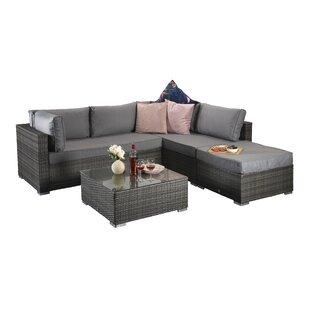Saffy 5 Seater Rattan Sofa Set By Hokku Designs
