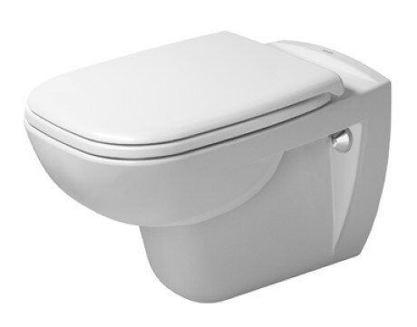Duravit D Code 1 28 Gpf Water Efficient Elongated Wall Mounted Toilet With High Efficiency Flush Seat Not Included Wayfair