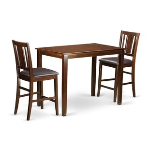 Yarmouth 3 Piece Counter Height Pub Table Set Wooden Importers