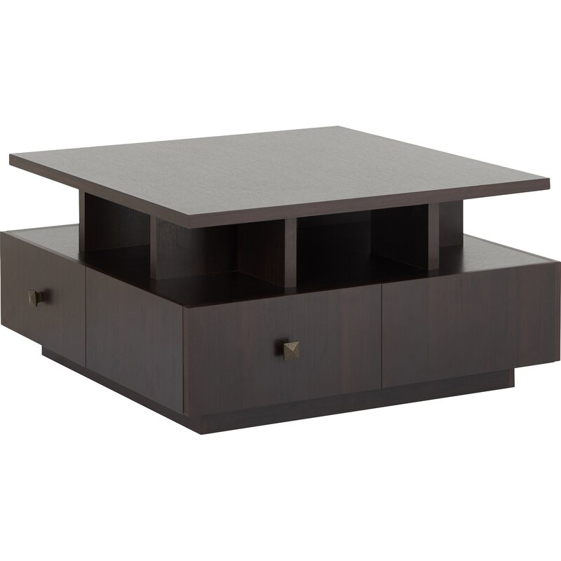 Latitude Run Square Coffee Table With Storage Reviews Wayfair