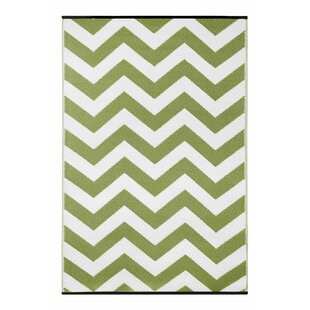 Reviews Lightweight Reversible Leaf Green/White Indoor/Outdoor Area Rug By Wildon Home ®