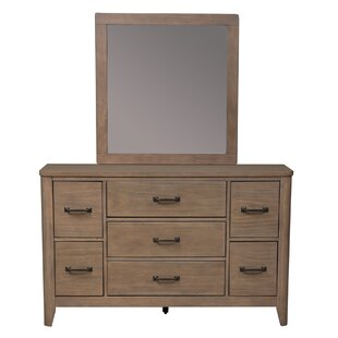 Selita Low Loft 7 Drawer Dresser with Mirror