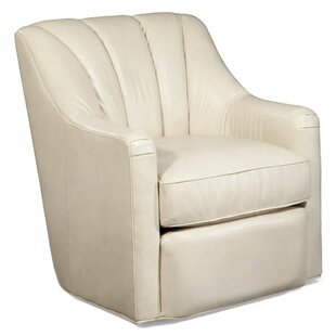 Fitzgerald Leather Swivel Armchair