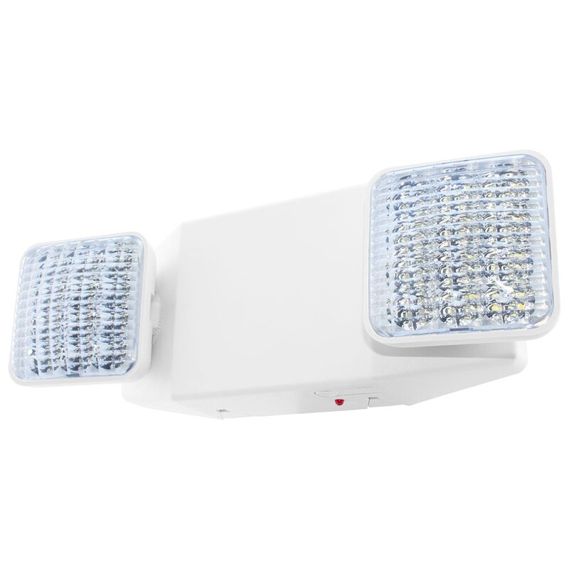 Light Fixture Industries Standard Bright Head Thermoplastic Led Emergency Light Wayfair