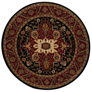Preston Rug in Black & Maroon by Andover Mills