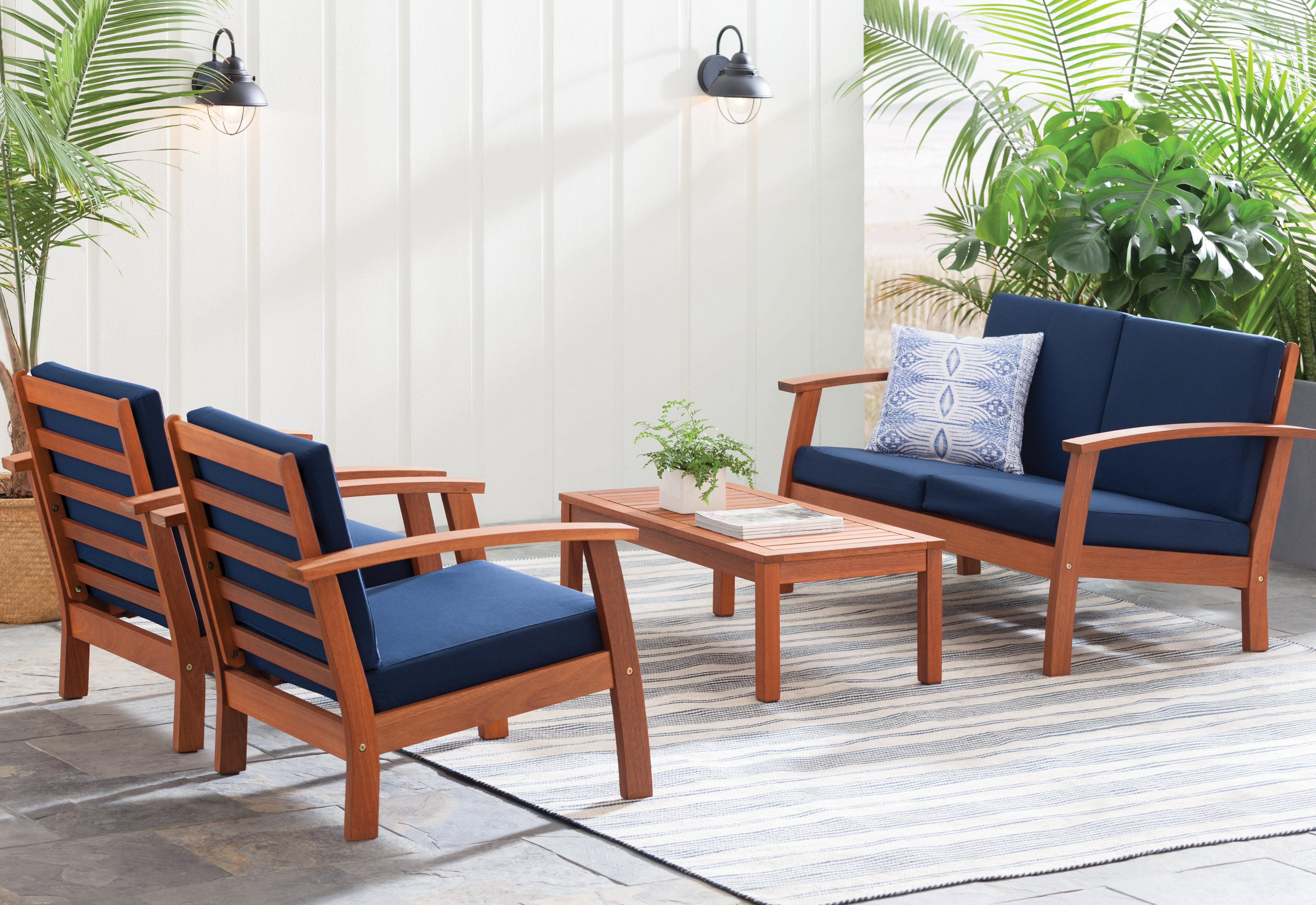 Beachcrest Home Fann 4 Piece Sofa Seating Group With Cushions Reviews Wayfair