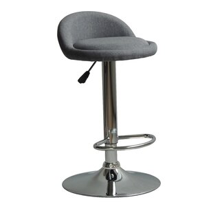 Huseby Adjustable Height Swivel Bar Stool (Set of 2) by Orren Ellis
