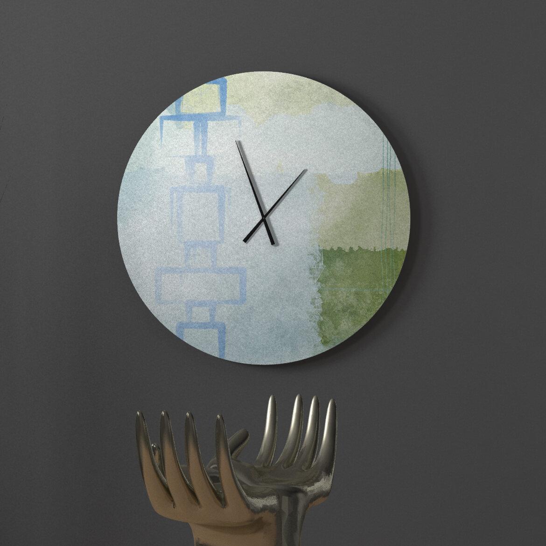 Latitude Run Kissable Infant Abstract Metal Wall Clock Wayfair