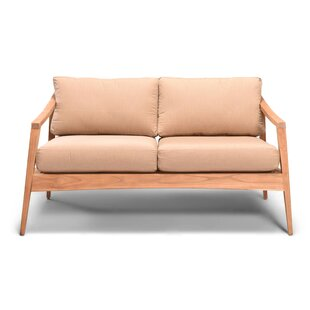 Hogue Teak Loveseat with Sunbrella Cushions