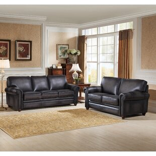 Canora Grey Faringdon 2 Piece Leather Living Room Set