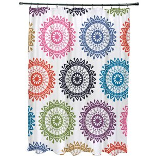 Meetinghouse Groovy Geometric Print Single Shower Curtain
