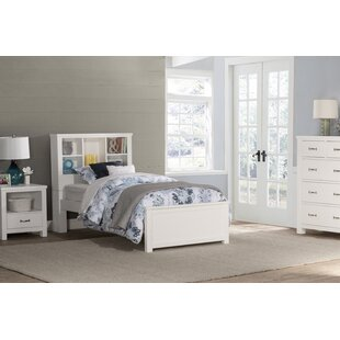 Stella Panel Bed with Bookcase Storage