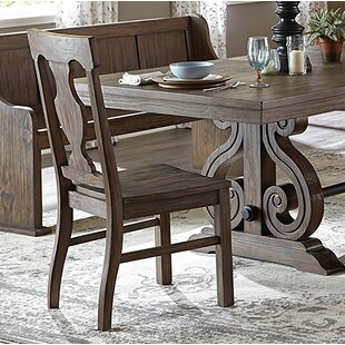 August Grove Lucius Solid Wood Dining Chairs (Set of 2)