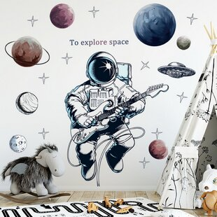 Large Space Shuttle Fabric Wall Decal Space Wall Decal