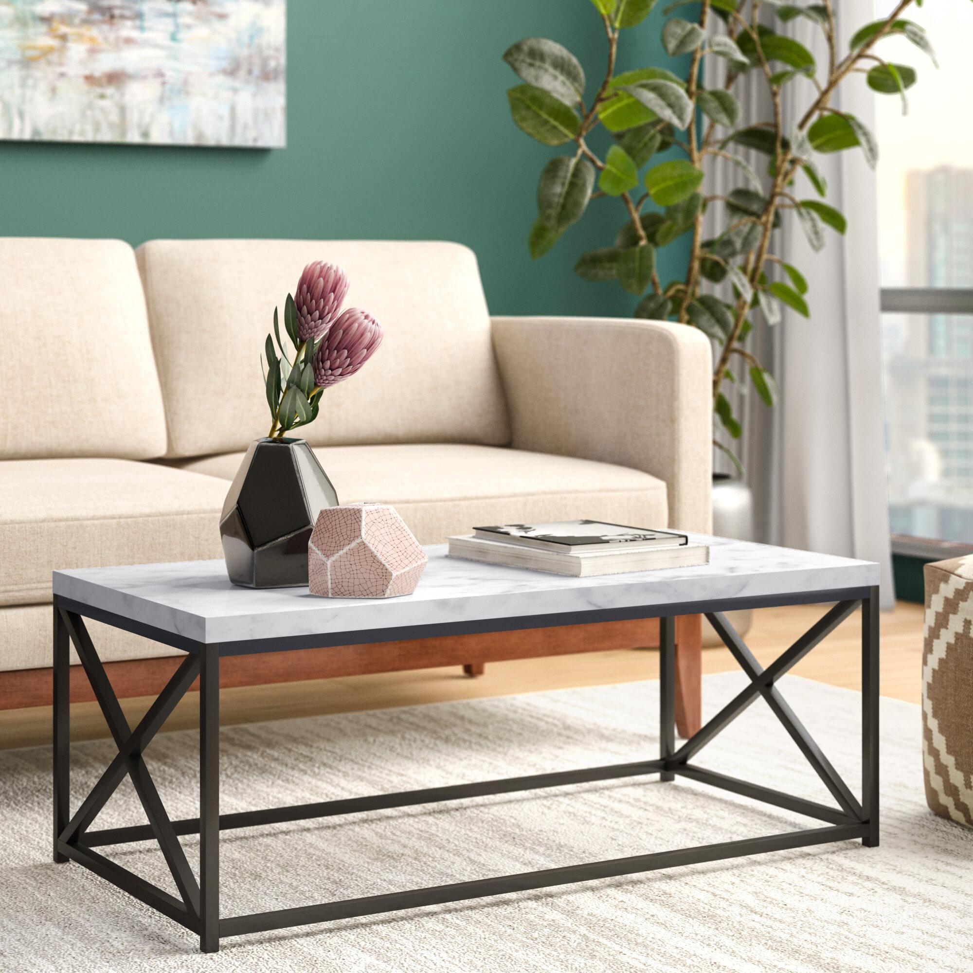 Black Frame Coffee Tables You Ll Love In 2021 Wayfair