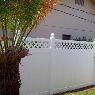 6 Ft. H X 4 Ft. W Rainier With Lattice Gate By Vinyl Fence Wholesaler