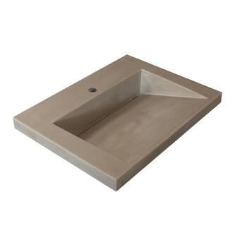 Marble Lite Ramp Bowl Vessel 31 Single Bathroom Vanity Top Wayfair